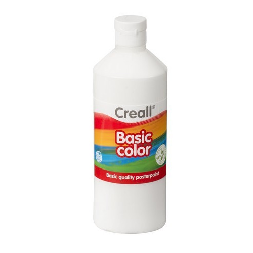 Creall Basic Color plakkaatverf - wit 500 ML 30081