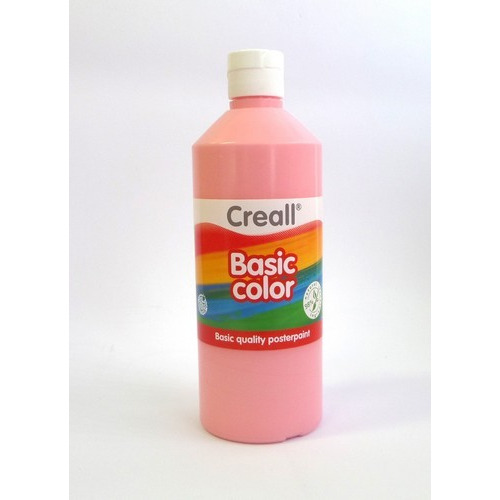 Creall Basic Color plakkaatverf - roze 500 ML 30083