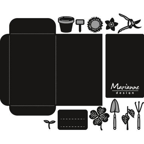 Marianne D Craftable Zaadzakje en tuingereedschap CR1395 15x17,5 cm (02-17)