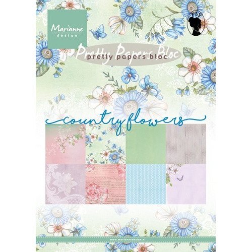 Marianne D Paper pad Country flowers PK9144 15x21 cm (02-17)