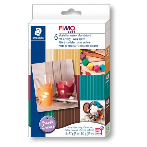 Fimo Soft set colour pack earth colours 6x57gr 8023 07 (02-17)