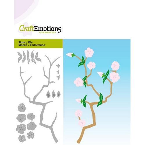 CraftEmotions Die -tak bloesem Card 5x10cm Spring Time (02-17)