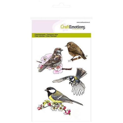 CraftEmotions clearstamps A6 - vogels Spring Time (02-17)