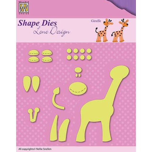 Shape Dies - Lene Design - Baby serie - Build-up giraffe