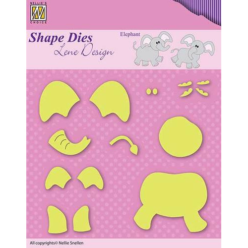 Shape Dies - Lene Design - Baby serie - Build-up elephant