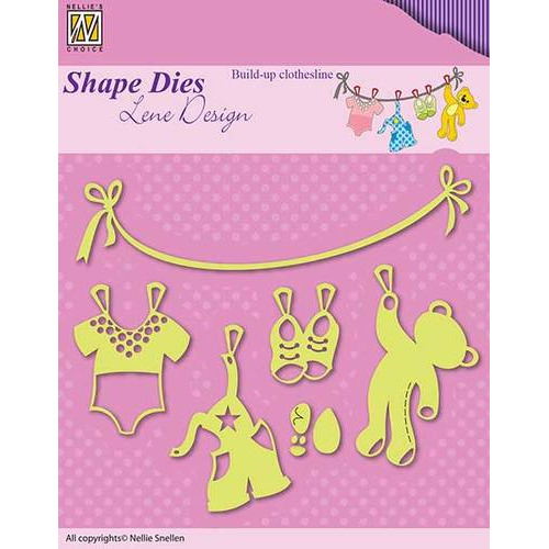 Shape Dies - Lene Design - Baby serie - Build-up clothesline