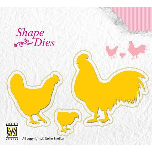 Shape Dies - Chicken family