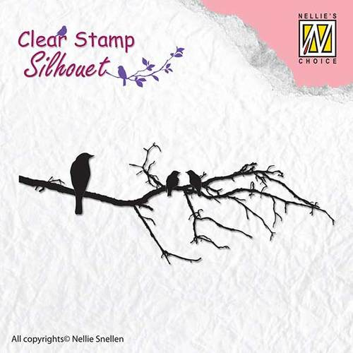 Clear stamps - Silhouet - Branch with birds