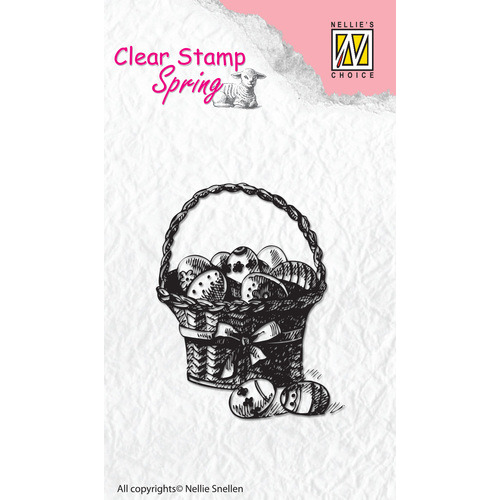 Clear stamps Spring Easter eggs