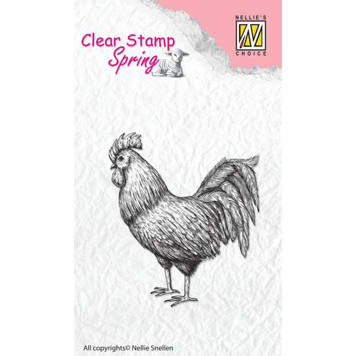 Clear stamps Spring Rooster
