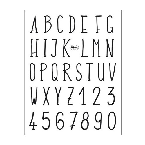 Clear Stamps Alphabet modern