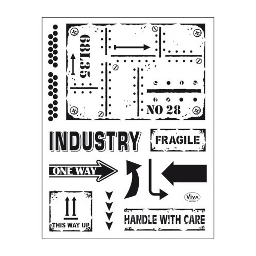 Clear Stamps Industrial Style