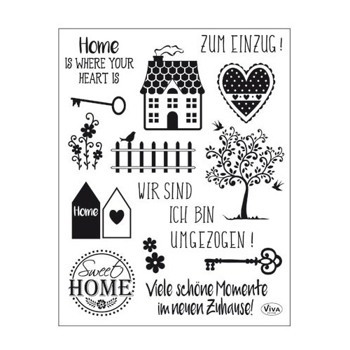 Clear Stamps Sweet Home