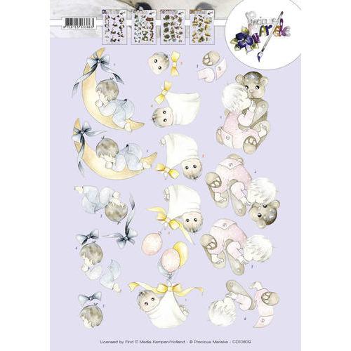 3D Knipvel - Precious Marieke - Geboorteknuffels