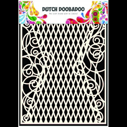 Dutch Doobadoo Dutch Mask Art stencil ruit - krul A5 470.715.103 (02-17)