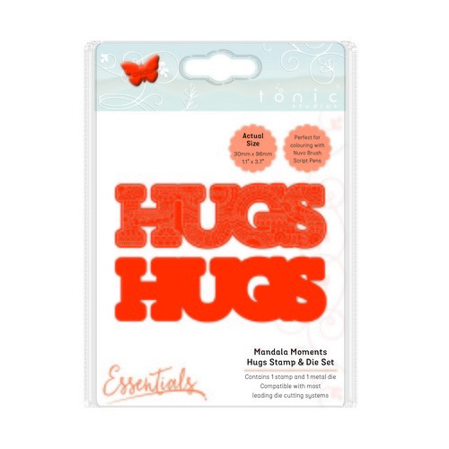 Tonic Studios mandala moments - hugs stamp & die set 1543E