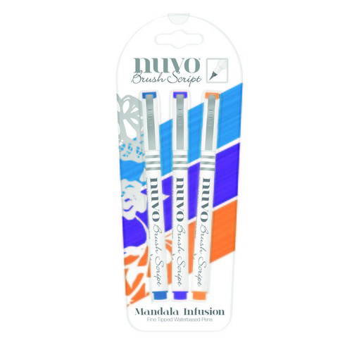 Nuvo brush script pens - mandala infusion 113N