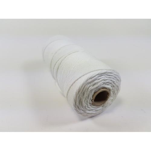 Katoen Macramé touw spoel nr 16 1,5mm 100grs - wit +/- 110mtr