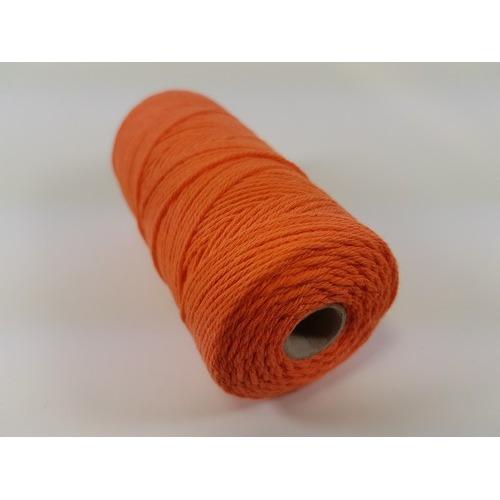 Katoen Macramé touw spoel nr 16 1,5mm 100grs - oranje +/- 110mtr
