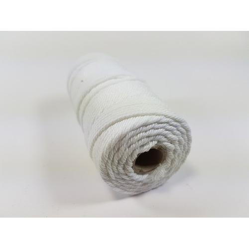 Katoen Macramé touw spoel nr 32 3mm 100grs - wit +/- 43mtr