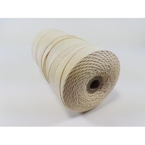Katoen Macramé touw spoel nr 32 2mm 100grs - ecru +/- 43mtr