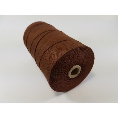 Katoen Macramé touw spoel nr 32 3mm 100grs - bruin +/- 43mtr