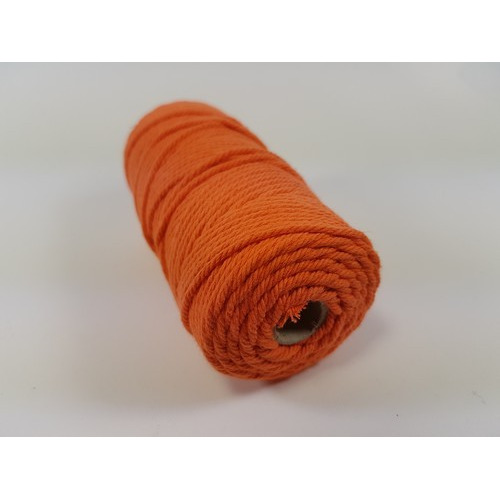 Katoen Macramé touw spoel nr 32 3mm 100grs - oranje +/- 43mtr