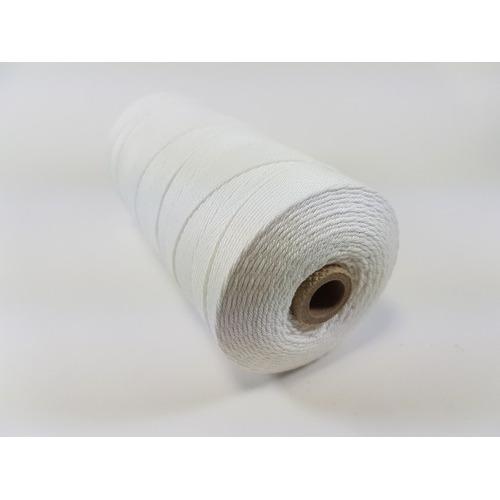 Katoen Macramé touw spoel nr 16 1,5mm 500grs - wit +/- 550mtr