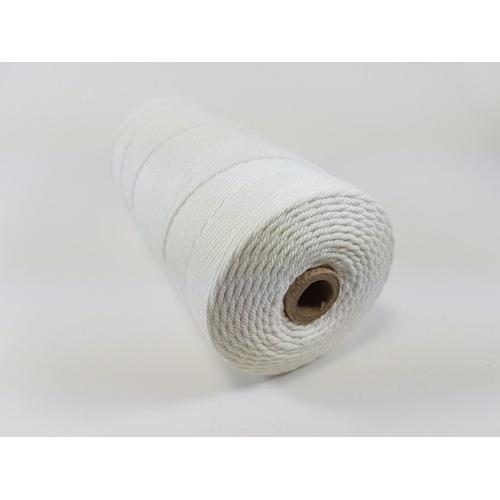 Katoen Macramé touw spoel nr 32 3mm 500grs - wit +/- 215mtr