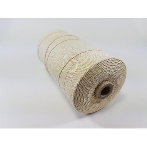 Katoen Macramé touw spoel nr 16 1,5mm 500grs - ecru +/- 550mtr