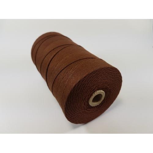 Katoen Macramé touw spoel nr 16 1,5mm 500grs - bruin +/- 550mtr