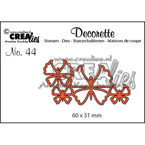 Crealies Decorette no. 44 die Vlinders 6 60x31mm / CLDR44 (02-17)