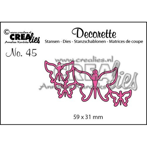 Crealies Decorette no. 45 die Vlinders 7 59x31mm / CLDR45 (02-17)
