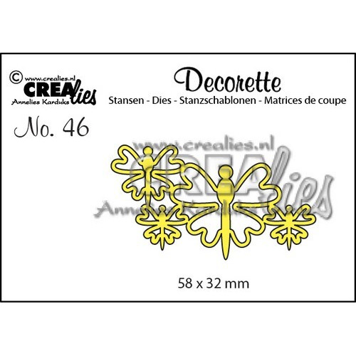 Crealies Decorette no. 46 die Vlinders 8 58x32mm / CLDR46 (02-17)