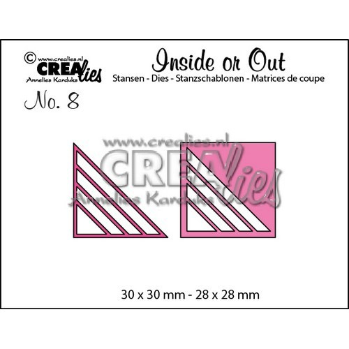 Crealies Insider or Out Corners C 30x30-28x28mm / CLIO08 (02-17)