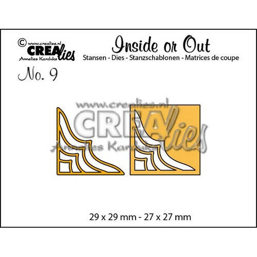 Crealies Insider or Out Corners D 29x29-27x27mm / CLIO09 (02-17)