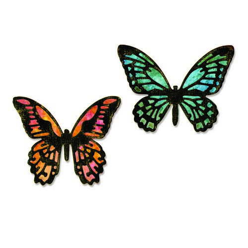 Sizzix Thinlits Die Set - Detailed butterflies mini 4PK 661802 Tim Holtz (02-17)