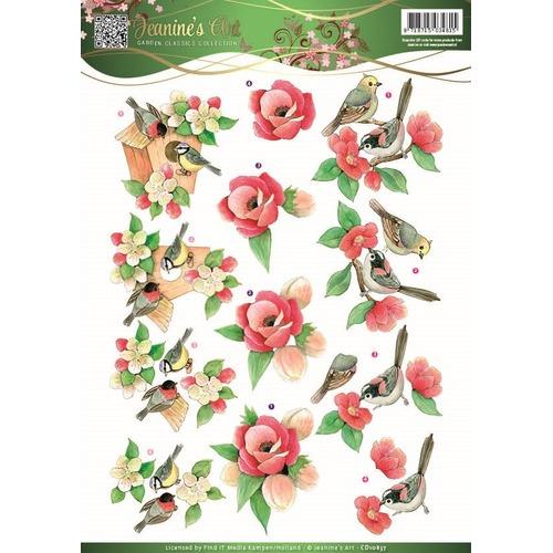 3D Knipvel - Jeanines Art - Garden Classics - Birds