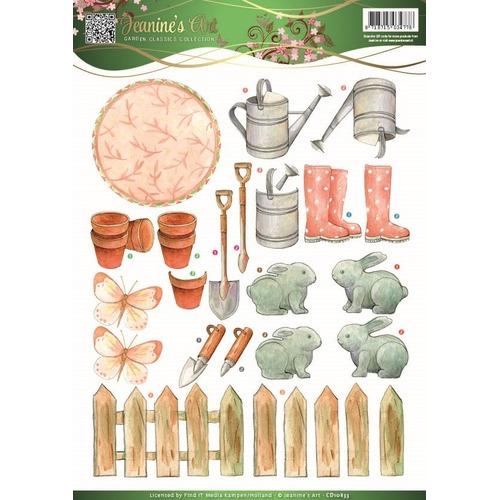 3D Knipvel - Jeanines Art - Garden Classics - Garden Tools 2