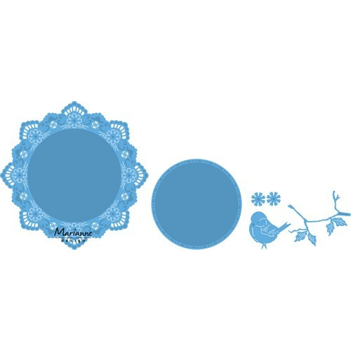 Marianne D Creatable Petra`s cirkel met vogel LR0457 15,5x19cm (03-17)