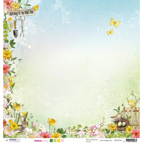 Studio Light Scrappapier 10vel 30,5x30,5 Celebrate Spring 04 SCRAPCS04 (03-17)