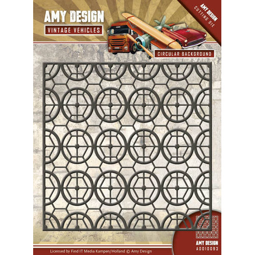 Die - Amy Design - Vintage Vehicles - Circular Background