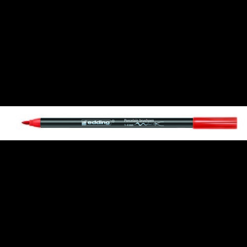 edding-4200 porselein brushpen rood  1ST 1-4 mm /  4-4200002