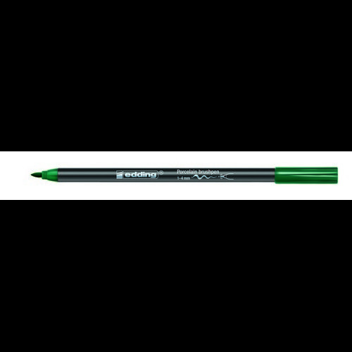 edding-4200 porselein brushpen groen  1ST 1-4 mm /  4-4200004
