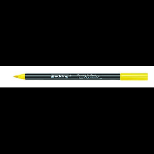 edding-4200 porselein brushpen geel  1ST 1-4 mm /  4-4200005