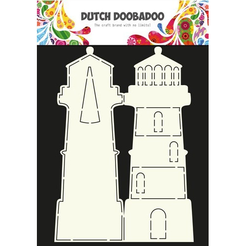Dutch Doobadoo Dutch Card Art Stencil vuurtoren A4 470.990.003 (03-17)