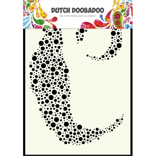 Dutch Doobadoo Dutch Mask Art stencil bubbels A6 470.990.002 (03-17)
