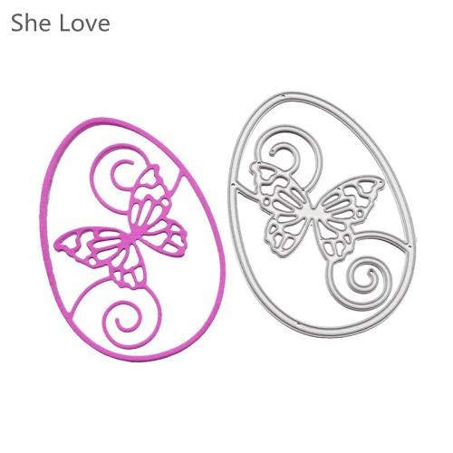 Embossing stencil vlinder cirkel