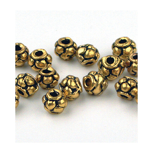 Beads, Antique Gilt