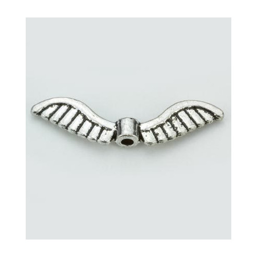 Angel Wings, Platinum, 5x26mm, 6pcs